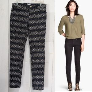 H&M Slim Fit Pants in Moroccan/BOHO Pattern